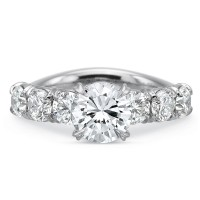 Precision Set Silk 7 Stone Engagement Ring