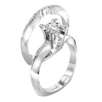 Claude Thibaudeau La Royale Modern Platinum Engagement Ring PLT-1963-MP