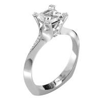 Claude Thibaudeau La Royale Modern Platinum Engagement Ring PLT-1910-MP