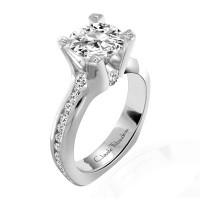 Claude Thibaudeau La Royale Modern Platinum Engagement Ring MODPLT-1746