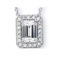 Precision Set Diamond Micro Prong Pendant Setting