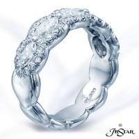 JB Star/Jewels By Star Multi-Row Diamond Band