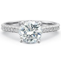 Precision Set Petite FlushFit™ Prong Set Diamond Band Engagement Ring