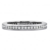 Precision Set FlushFit Full Round Diamond Channel Set Band with Rounded Sides and Matte Finish .55CT