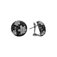 Sasha Primak Sphere Collection Black and White Diamond Earrings