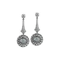 Sasha Primak Trellis Collection Earrings with Detachable Diamond Studs