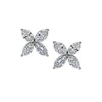 Sasha Primak In Bloom Marquise Diamond Earrings