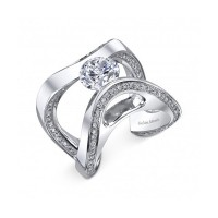 Gelin & Abaci Tension Set Diamond Engagement Ring TR-300