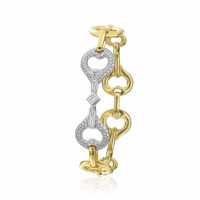 Two Tone Gold And Diamond Gallop Bracelet