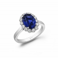 Elegant Platinum Sapphire Platinum Ring