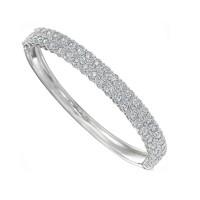 Memoire Double Row Oval Diamond Bracelet