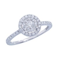 Memoire Halo Diamond Ring MBQ15ER-0075TW