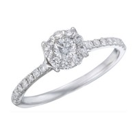 Memoire Four Prong Diamond Ring MBQ84ER-0050TW
