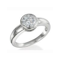 Memoire Bezel Set Diamond Ring