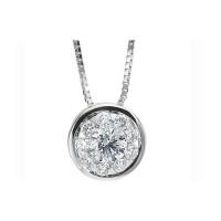 Memoire Bezel Set Diamond Necklace