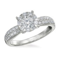 Memoire Four Prong Diamond Ring MBQ8R-0075TW