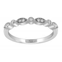 Mervis Bridal Micropave Platinum Wedding Band