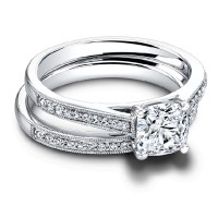 Jeff Cooper Henriette Cushion Engagement Ring