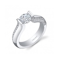 Gelin & Abaci Tension Set Diamond Engagement Ring TR-245