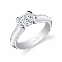 Gelin & Abaci 14K White Gold Diamond Engagement Ring TR-256