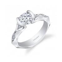 Gelin & Abaci Tension Set Diamond Engagement Ring TR-259