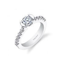 Gelin & Abaci Tension Set Diamond Engagement Ring TR-264