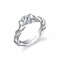 Gelin & Abaci Twisting Tension Set Diamond Engagement Ring TR-275