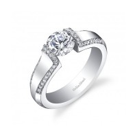 Gelin & Abaci Tension Set Diamond Engagement Ring TR-276