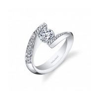 Gelin & Abaci Bypass Pave Diamond Tension Set Engagement Ri... TR-265