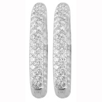 3.0 Carat Diamond Hoop Earrings