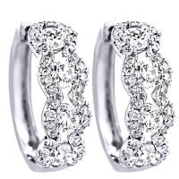 1.54 Carat Diamond Earrings