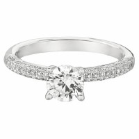 Martin Flyer Our Destiny Our Dreams Bombe Pave Engagement Ring DERM6XSQ-F-6.0RD