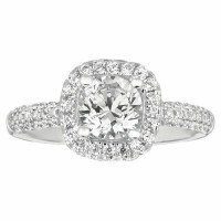 Martin Flyer Our Destiny Our Dreams Halo Engagement Ring DERMH6XSQ-F-6.5RD