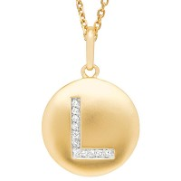 Disc Initial Letter L Necklace