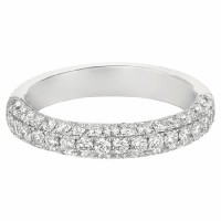 Martin Flyer Our Destiny Our Dreams Bombe Pave Wedding Band DWBM6Q-1.00-F