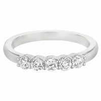 Martin Flyer Our Destiny Our Dreams Five Stone Wedding Band DWBSP1Q-.50-F
