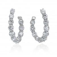 2.01 Carat Diamond Hoop Earrings