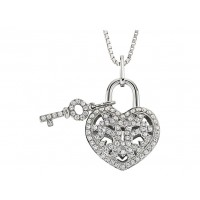 .25 Carat Lover's Lock Necklace