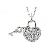 .90 Carat Lover's Lock Necklace