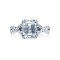 Tacori Dantela Collection Modern/Classic Crisscross Engagement Ring 2627ECLG