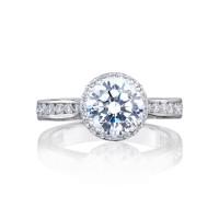 Tacori Dantela Collection Crescent Engagement Ring 2646-3RDR75