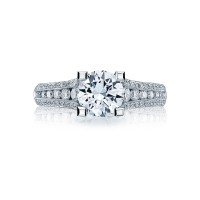Tacori Classic Crescent Collection Contemporary Engagement Ring HT2513RD7512X