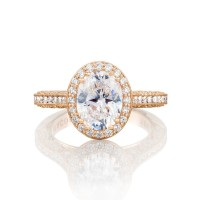 Tacori Pretty in Pink Collection Classic Engagement Ring HT2550OV9X7PK