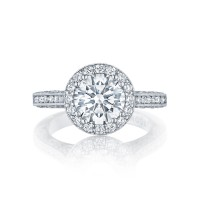 Tacori Classic Crescent Collection Three Stone Ring HT2550RD8