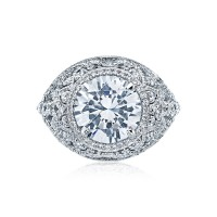 Tacori RoyalT Collection RoyalT Round Cut Engagement Ring HT2612RD10
