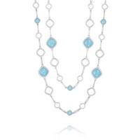 Tacori Barbados Blue Double Cascading Gem Link Necklace