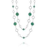 Tacori Onyx Envy Double Cascading Gem Link Necklace