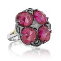 Tacori City Lights Bold Lotus Four Gem Ring