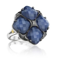 Tacori City Lights Bold Lotus Four Gem Tilt Ring