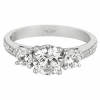 Martin Flyer FlyerFit® Bead Set Engagement Ring V5137SRQ-C-6.5RD